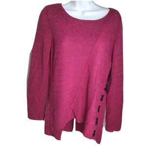Nic And Zoe Pink Chunk Knit Sweater